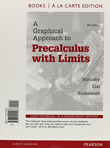 Graphical Approach to Precalculus, Books a la Carte Edition  6th 2015 edition cover