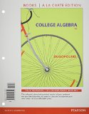 College Algebra, Books a la Carte Edition, Plus NEW MyMathLab-- Access Card Package  6th 2015 edition cover