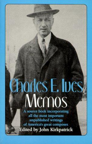 Charles E. Ives Memos  1972 edition cover