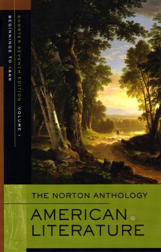 Norton Anthology American Literature Beginnings to 1865 7th 2008 edition cover