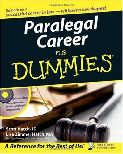 Paralegal Career for Dummies   2006 edition cover
