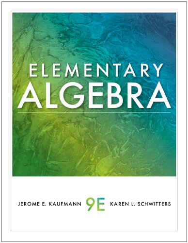 Elementary Algebra  9th 2011 9780538739566 Front Cover
