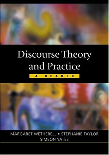 Discourse Theory and Practice A Reader  2001 edition cover