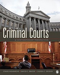 Criminal Courts A Contemporary Perspective  2010 edition cover