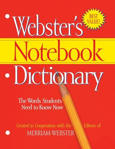 Webster's Notebook Dictionary N/A 9781596950566 Front Cover