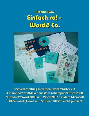 Einfach - So! Word & Co:   2009 9783837026566 Front Cover