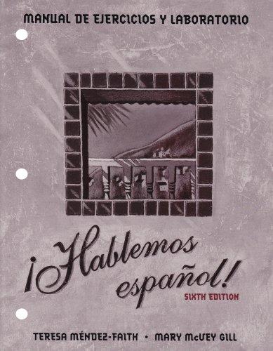 Hablemos Espanol!  6th 1998 edition cover