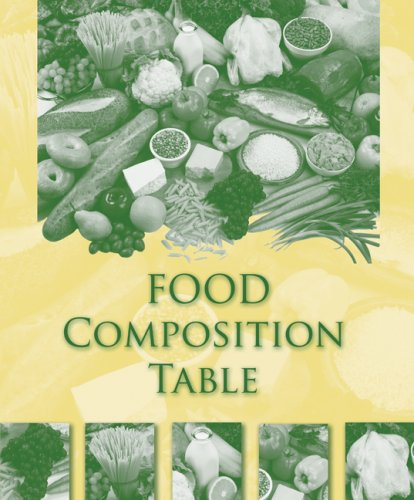 Food Composition Table   2009 edition cover