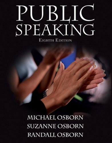 Public Speaking  8th 2009 edition cover
