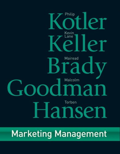 Marketing Management   2009 9780273718567 Front Cover