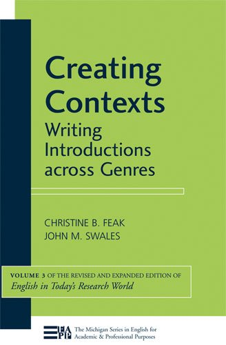 Creating Contexts Writing Introductions Across Genres  2011 edition cover
