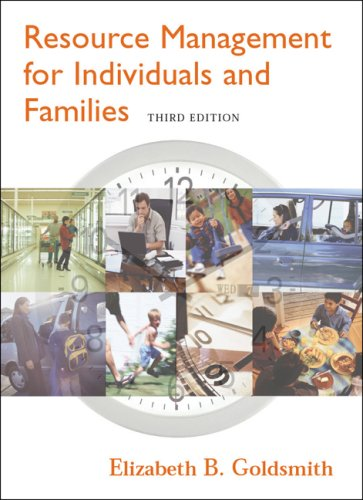 Resource Management for Individuals and Families  3rd 2005 (Revised) edition cover