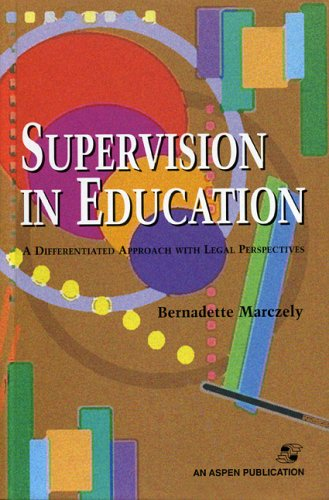 Supervision in Education A Differentiated Approach with Legal Perspectives  2001 edition cover
