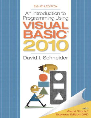 Introduction to Programming Using Visual Basic 2010  8th 2011 edition cover