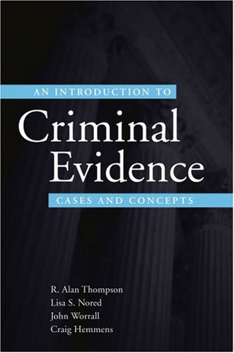 Introduction to Criminal Evidence Cases and Concepts  2009 9780195332568 Front Cover
