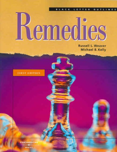 Black Letter Outline on Remedies 2005   2005 edition cover