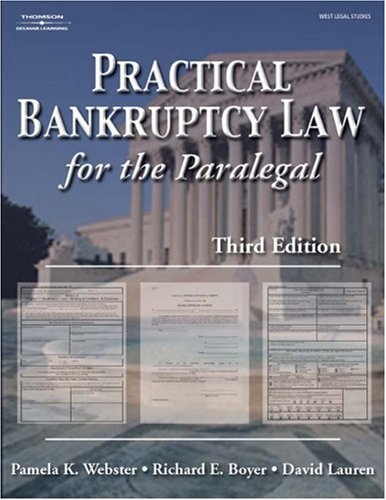 Practical Bankruptcy Law for Paralegals  3rd 2004 (Revised) edition cover