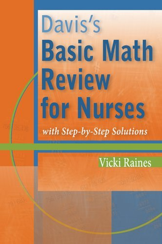 Davis's Basic Math Review for Nurses With Step-by-Step Solutions  2009 edition cover