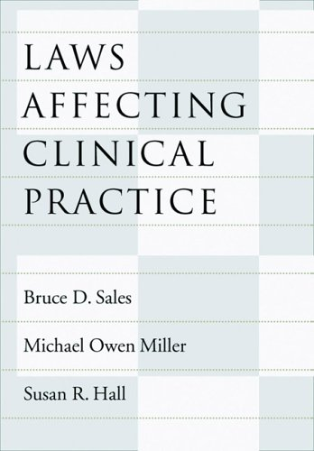 Laws Affecting Clinical Practice   2005 edition cover