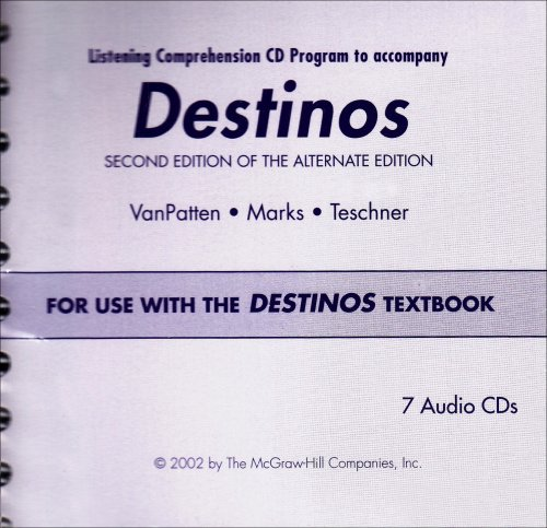 Destinos Listening Comprehension CD Program For Use with the Destinos Textbook 2nd 2002 edition cover