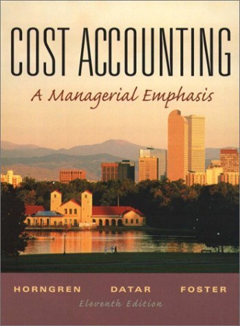 Cost Accounting  11th 2003 (Student Manual, Study Guide, etc.) 9780131793569 Front Cover