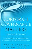 Corporate Governance Matters A Closer Look at Organizational Choices and Their Consequences 2nd 2016 edition cover