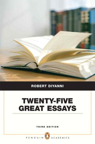 Twenty-Five Great Essays  3rd 2008 (Revised) edition cover