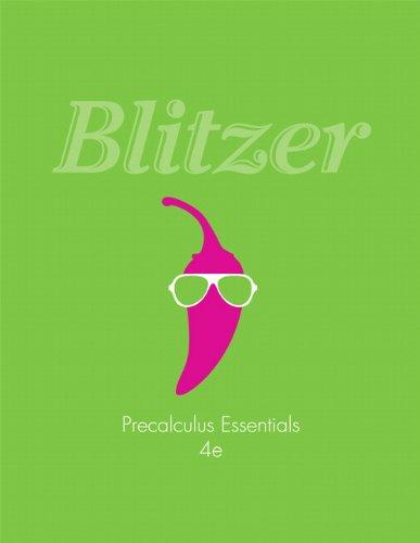Precalculus Essentials:  4th 2013 edition cover
