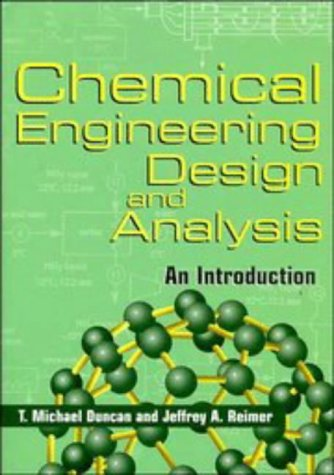 Chemical Engineering Design and Analysis An Introduction  1998 edition cover