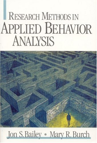 Research Methods in Applied Behavior Analysis   2002 edition cover