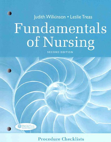 Procedure Checklists for Fundamentals of Nursing  2nd 2010 (Revised) edition cover