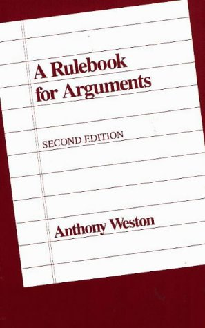 Rulebook for Arguments 2nd 1992 edition cover