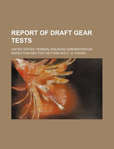 Report of Draft Gear Tests   2010 edition cover
