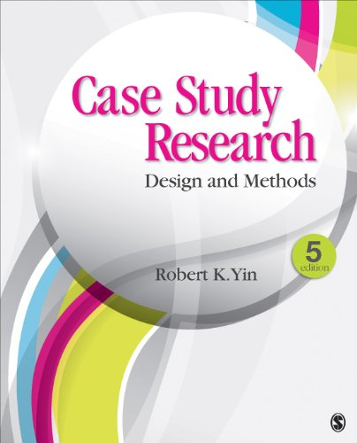 Case Study Research Design and Methods 5th 2014 edition cover