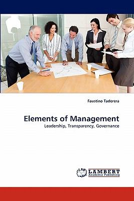 Elements of Management  N/A 9783838396569 Front Cover