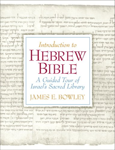 Introduction to Hebrew Bible A Guided Tour of Israel's Sacred Library  2008 edition cover