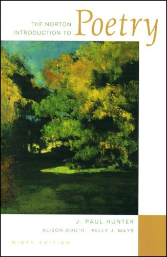 Norton Introduction to Poetry  9th 2007 edition cover