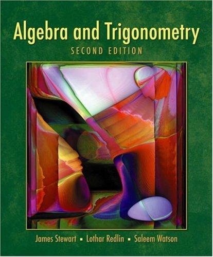 Algebra and Trigonometry  2nd 2007 edition cover
