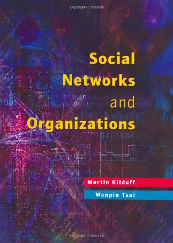 Social Networks and Organizations   2003 9780761969570 Front Cover