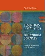 Essentials of Statistics for the Behavioral Sciences:   2013 9781133956570 Front Cover
