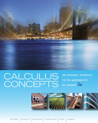 Calculus Concepts An Informal Approach to the Mathematics of Change 5th 2012 edition cover