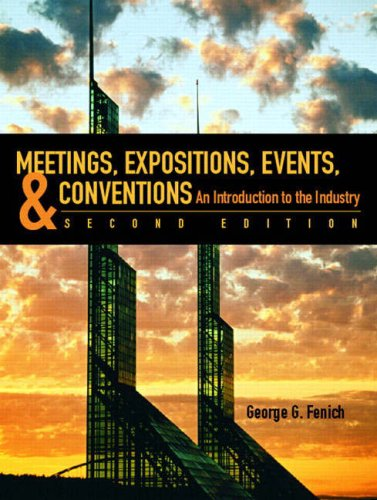 Outlines and Highlights for Meetings, Expositions, Events and Conventions  2nd 2008 edition cover