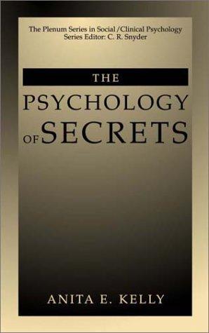 Psychology of Secrets   2002 9780306466571 Front Cover