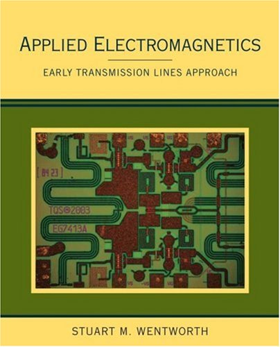 Applied Electromagnetics Early Transmission Lines Approach  2007 edition cover