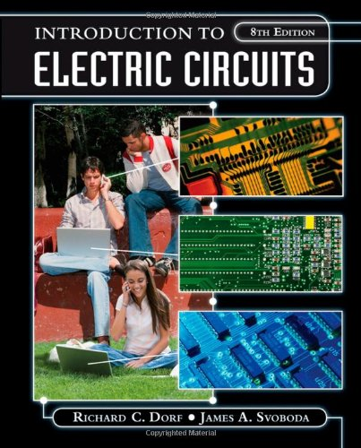 Introduction to Electric Circuits  8th 2010 edition cover