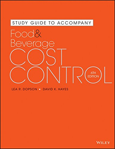 Food and Beverage Cost Control  6th 2016 edition cover