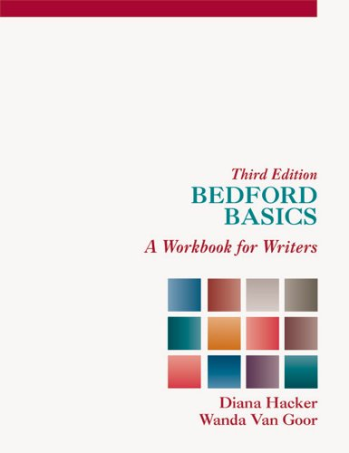 Bedford Basics A Workbook for Writers 3rd 1998 edition cover