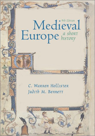 Medieval Europe A Short History 9th 2002 (Revised) edition cover
