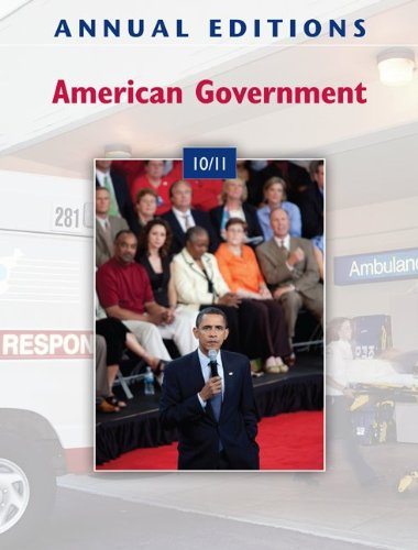 American Government 10/11  40th 2011 9780078050572 Front Cover