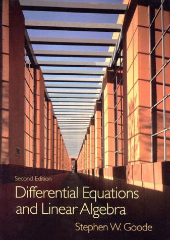 Differential Equations and Linear Agebra  2nd 2000 edition cover